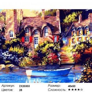 Количество цветов и сложность Солнечный город Раскраска картина по номерам акриловыми красками на холсте