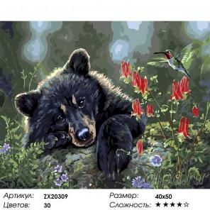 Лесной обитатель Раскраска картина по номерам на холсте