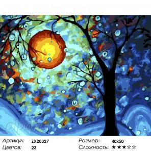 Ночное дерево Раскраска картина по номерам на холсте
