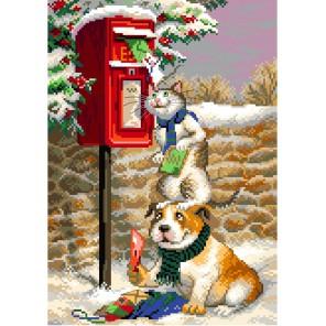 Почтальоны Канва с рисунком для вышивки Матренин посад