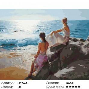 У самого синего моря Раскраска картина по номерам на холсте Белоснежка