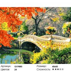 Осень в центральном парке. Швейцария Раскраска картина по номерам на холсте