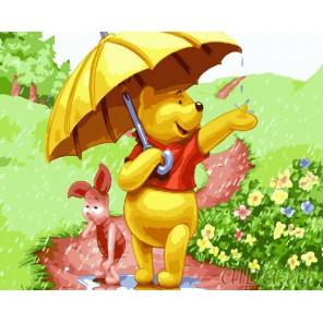 Летний дождь Раскраска картина по номерам акриловыми красками на холсте