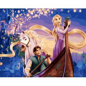 Романтичная Рапунцель Раскраска картина по номерам акриловыми красками на холсте