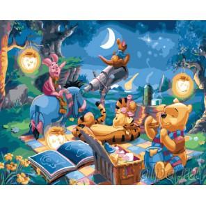 Винни и его друзья Раскраска картина по номерам акриловыми красками на холсте