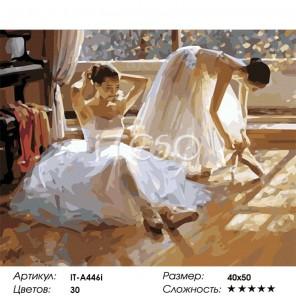 Количество цветов и сложность Перед репетицией Раскраска картина по номерам акриловыми красками на холсте Iteso