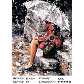 Количество цветов и сложность Мелодия дождя Раскраска картина по номерам акриловыми красками на холсте Iteso