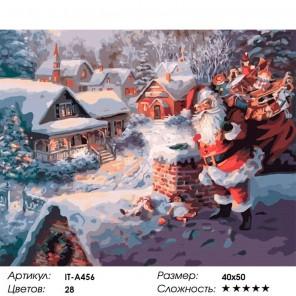 Количество цветов и сложность Волшебный Санта Клаус Раскраска ( картина ) по номерам акриловыми красками на холсте Iteso