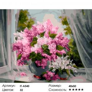 Количество цветов и сложность Аромат сирени Раскраска картина по номерам акриловыми красками на холсте Iteso