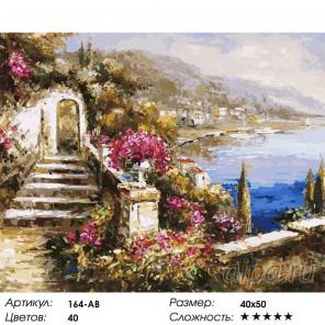 Вид на море Раскраска картина по номерам на холсте Белоснежка
