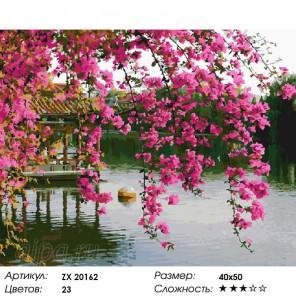 Цветы над водой Раскраска картина по номерам на холсте
