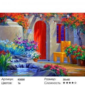 Количество цветов и сложность Уютный дворик Раскраска картина по номерам акриловыми красками Color Kit