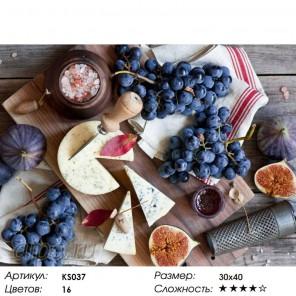 Количество цветов и сложность Натюрморт с фруктами Раскраска картина по номерам акриловыми красками Color Kit