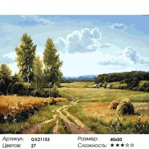 Дорога к озеру Раскраска картина по номерам на холсте