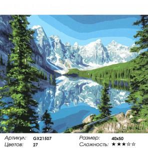 Альпийское озеро Раскраска картина по номерам акриловыми красками на холсте