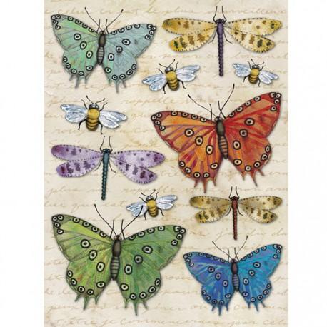 Бабочки, стрекозы Стикеры для скрапбукинга, кардмейкинга K&Company