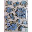 Цветы голубые Стикеры для скрапбукинга, кардмейкинга K&Company