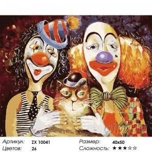 Количество цветов и сложность Кот в цирке Раскраска картина по номерам акриловыми красками на холсте