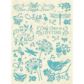 Ботаника и завитки Стикеры для скрапбукинга, кардмейкинга K&Company