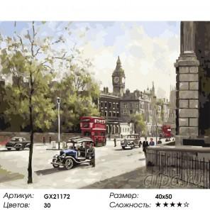 Солнечный Лондон Раскраска картина по номерам на холсте