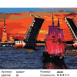 Разводной мост Раскраска картина по номерам на холсте