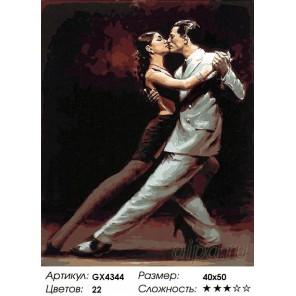 Количество цветов и сложность Танго вдвоем Раскраска картина по номерам акриловыми красками на холсте