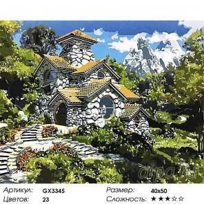 Количество цветов и сложность Домик в Средиземноморье Раскраска картина по номерам акриловыми красками на холсте