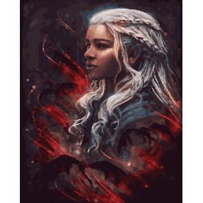 Девушка и драконы Раскраска картина по номерам акриловыми красками на холсте