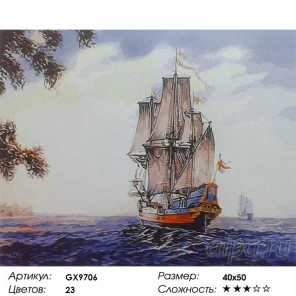 Шведский парусник Раскраска картина по номерам на холсте
