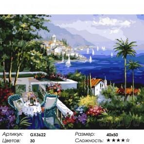 Количество цветов и сложность Ривьера Раскраска картина по номерам акриловыми красками на холсте
