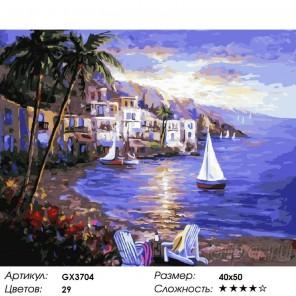 Цветущая бухта Раскраска картина по номерам акриловыми красками на холсте