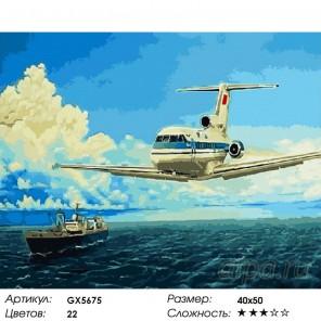 Количество цветов и сложность Два лайнера Раскраска картина по номерам акриловыми красками на холсте