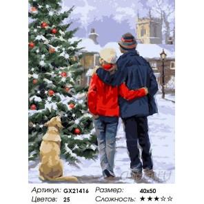 Количество цветов и сложность Новогодние желания Раскраска картина по номерам акриловыми красками на холсте