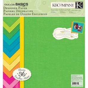 Основные цвета 31x31 Набор бумаги для скрапбукинга, кардмейкинга K&Company