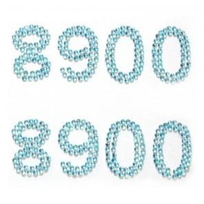 8900 голубые цифры Набор самоклеющихся страз Glorex