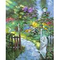 Дорожка в сад Раскраска картина по номерам на холсте