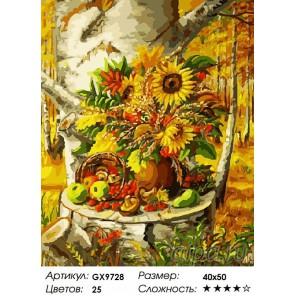 Осенний натюрморт Раскраска картина по номерам акриловыми красками на холсте