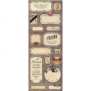 Флора и фауна Ярлычки наклейки для скрапбукинга, кардмейкинга K&Company