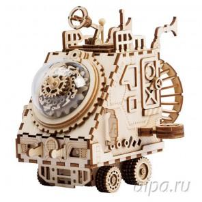 Космический корабль Стимпанк с музыкальными и световыми эффектами 3D Пазлы Деревянные