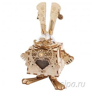 Кролик Стимпанк с музыкальными эффектами 3D Пазлы Деревянные