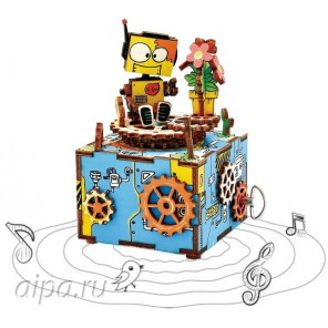 Машинариум с музыкальными эффектами 3D Пазлы Деревянные