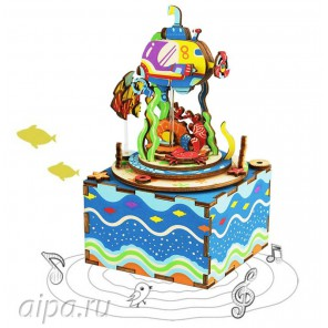 Подводный мир с музыкальными эффектами 3D Пазлы Деревянные