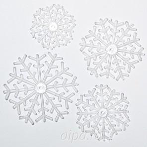 Снежинки Набор фигурок из пластика для декорирования