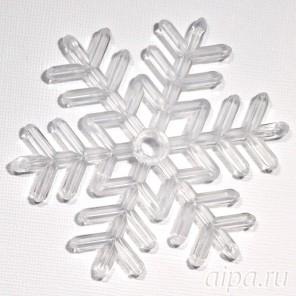 Cнежинка-медальон Фигурка из пластика для декорирования