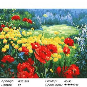 Маковые всполохи Раскраска картина по номерам акриловыми красками на холсте