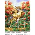 Клубника со сливками Раскраска картина по номерам на холсте