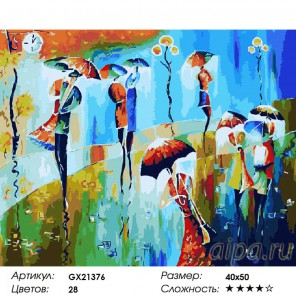 Теплый дождь Раскраска картина по номерам акриловыми красками на холсте