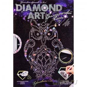 Королевская сова Алмазная вышивка мозаика с глиттером на картоне