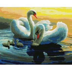 Лебединая семья Алмазная мозаика вышивка на подрамнике Painting Diamond