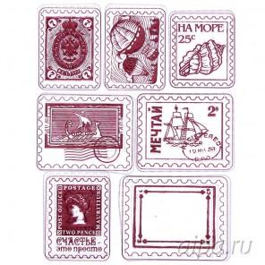 Морские плашки Набор прозрачных штампов для скрапбукинга, кардмейкинга Арт Узор